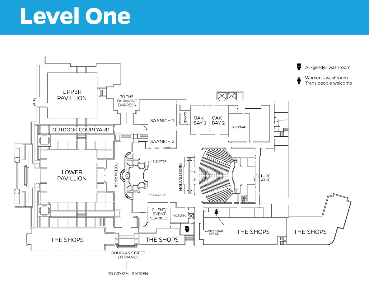 Map of Level One of Convention site